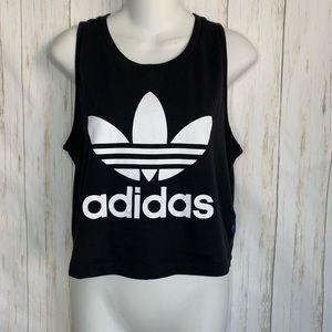 Adidas Sleeveless Tank Top Crop Logo Tee